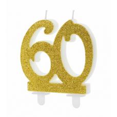 Sviečka č. 60 zlatá