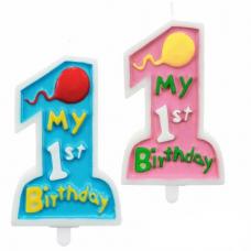 """Tortová sviečka číslo 1 """"Moje 1. narodeniny"""""""
