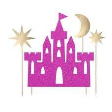 Ozdoba na tortu Princezná hrad