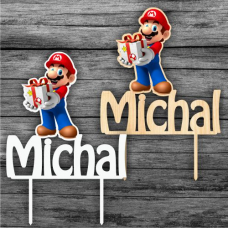 Zápich na tortu Super Mario s menom