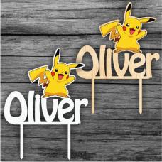 Tortový zápich Pikachu s menom