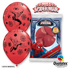 Balóny Spiderman 6ks Q 12´´ RND