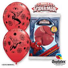 Balóny Spiderman 6ks Q 12´´ RND