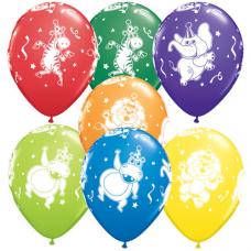 Balóny Party Zvieratká 6ks Q 11´´ RND