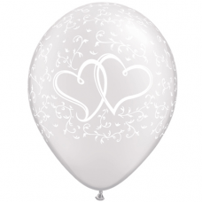 Q Entwined Hearts White 11´´