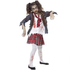 Dievčenský kostým Zombie žiačka