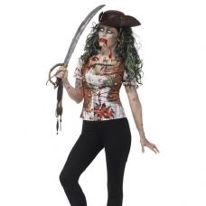 Tričko Zombie Pirát dámske