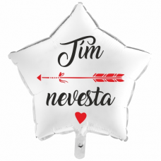 Balón Tím Nevesta 1 biely