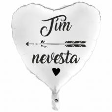 Balón Tím Nevesta biely