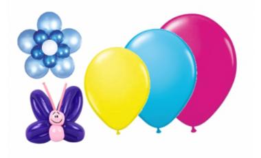 Balónky latexové - barvy a velikosti