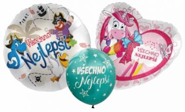 Balónky Všechno nejlepší