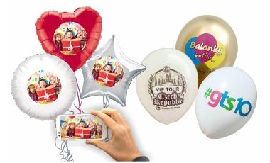 Balónky s vlastní fotkou / Reklamní potisk balónků