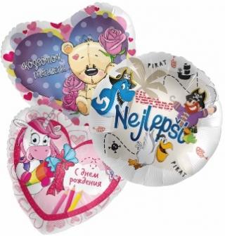 Balónky fóliové na dekorace střední