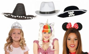 Paruky, klobouky, čelenky, korunky
