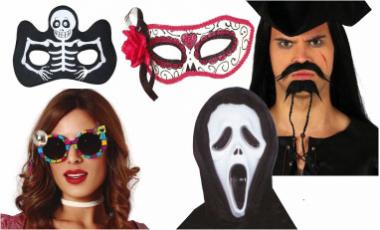 Masky, škrabošky, vousy, nosy, uši ...