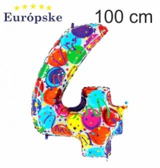 Čísla vzor balónky maxi