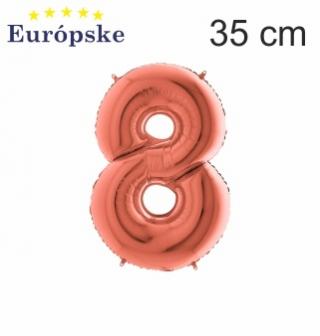 Rosé gold čísla mini