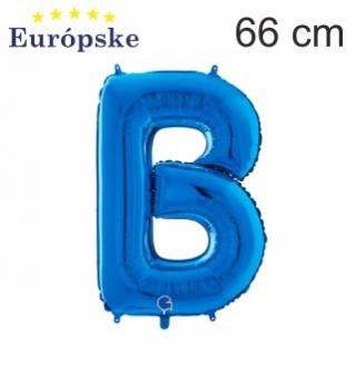 Modré písmena velké