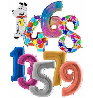 Balónky čísla maxi 100 cm
