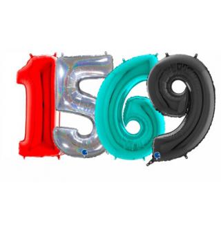 Balónky čísla vysoké 66 cm