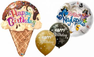 Balónky Happy birthday